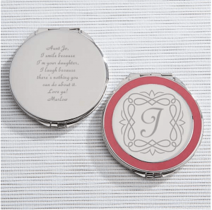 Personalized gift engraved mirror