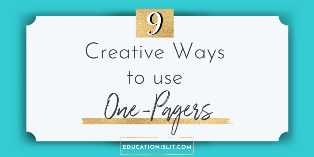 creative one pager ideas for any text blog header