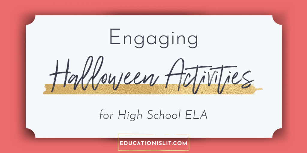 halloween lesson plan and activity ideas for high school blog header